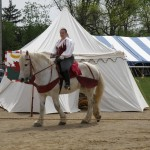 In 2011, Riding Libby at the Ashville Viking Festival
